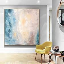 Abstract Art Painting Original Office Decor Home Dining Room Wall Minimal Oil On Canvas Large Artwork