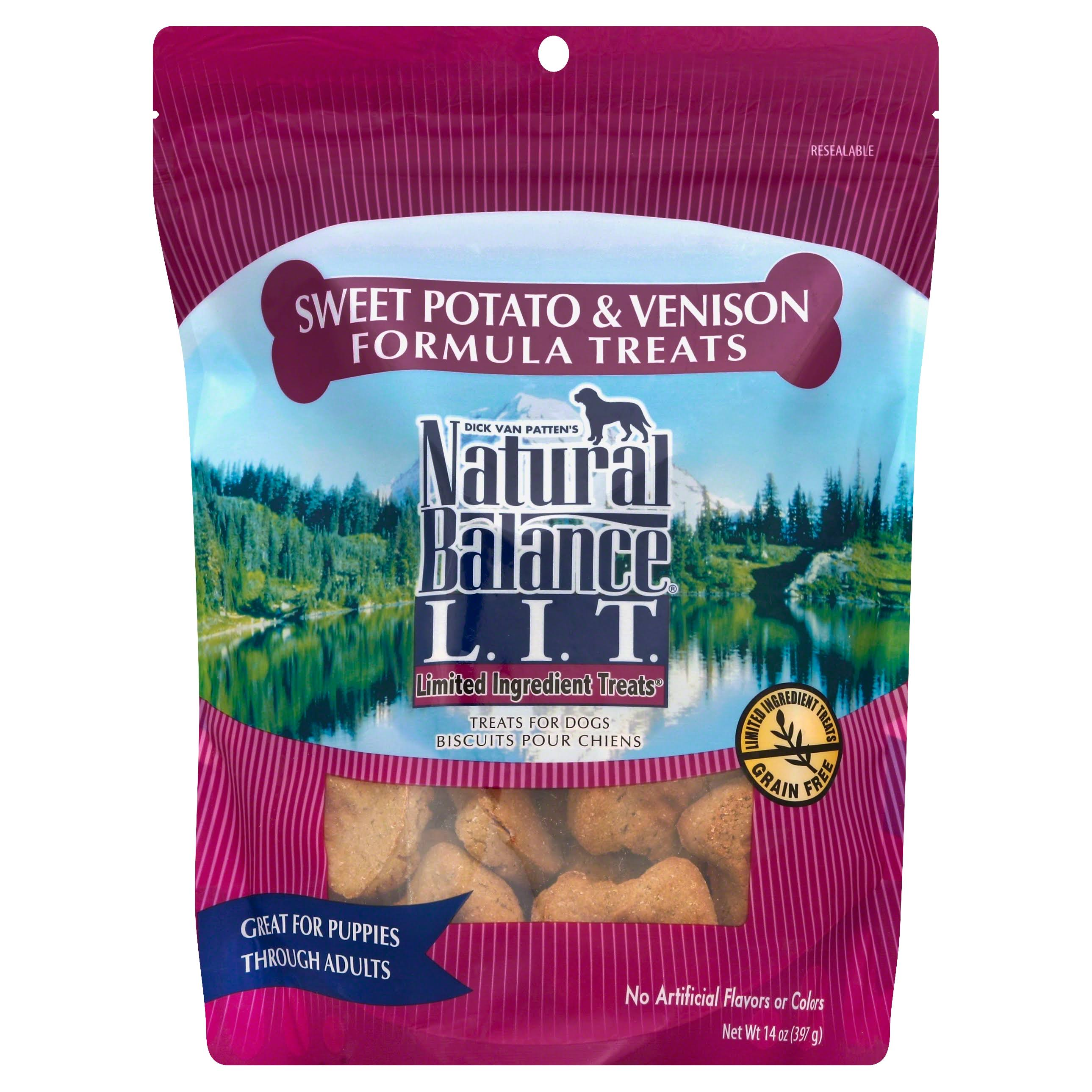Natural Balance L.I.T. Sweet Potato & Venison Dog Treats - 14 oz bag