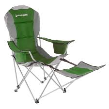 Camp Chair With Footrest 300lbs Capacity Recliner By Wakeman Outdoors