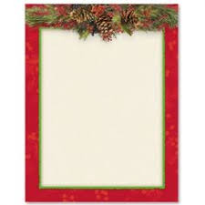 Christmas Swag Border Paper