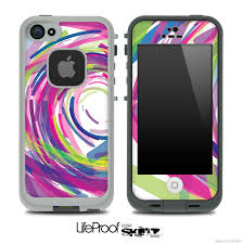 Abstract Color Brushes V2 Skin for the iPhone 5 or 4 4s LifeProof Case