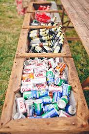 Ideas For An Outdoor Wedding 1 Use A Classic Planter Box As Cooler Your Drinks