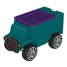Teal/Purple RC Truck Cooler W/ Bluetooth Speakers | Best Bluetooth ...