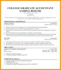 Recent Graduate Resume College Template Objective Example Word Tem