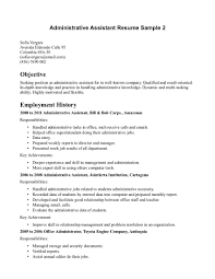 Resume Office Skills Examples Objective For Assistant Sample Clerical Administration Picture Of Manager Well Though