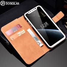 Cover Case For Apple iPhone X Wallet Coque PU Leather Card Holders