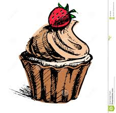 Creamy cup cake with delicious berry