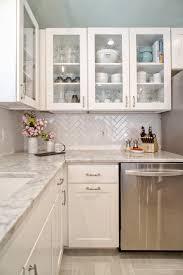 White Cabinets Dark Gray Countertops by Our 25 Most Pinned Photos Of 2016 Herringbone Backsplash Shaker