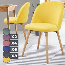 miadomodo esszimmerstühle farbwahl 2 4 6 8 set sitzfläche aus samt gepolstert beine aus buchenholz mit rückenlehne polsterstuhl vintage