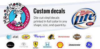 Vinyl window lettering dealership decals corporate logos custom