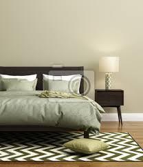 fototapete moderne frische elegante grüne schlafzimmer mit teppich