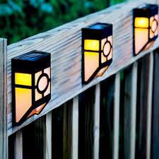 outdoor solar powered light sensor fence wall l for garden