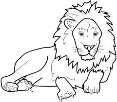 Zoo Great Lion Coloring Pages For Kids Printable