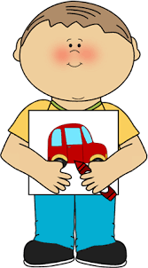 Boy With Coloring Picture Clip Art