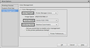 Color Management Settings For The Best Print Output