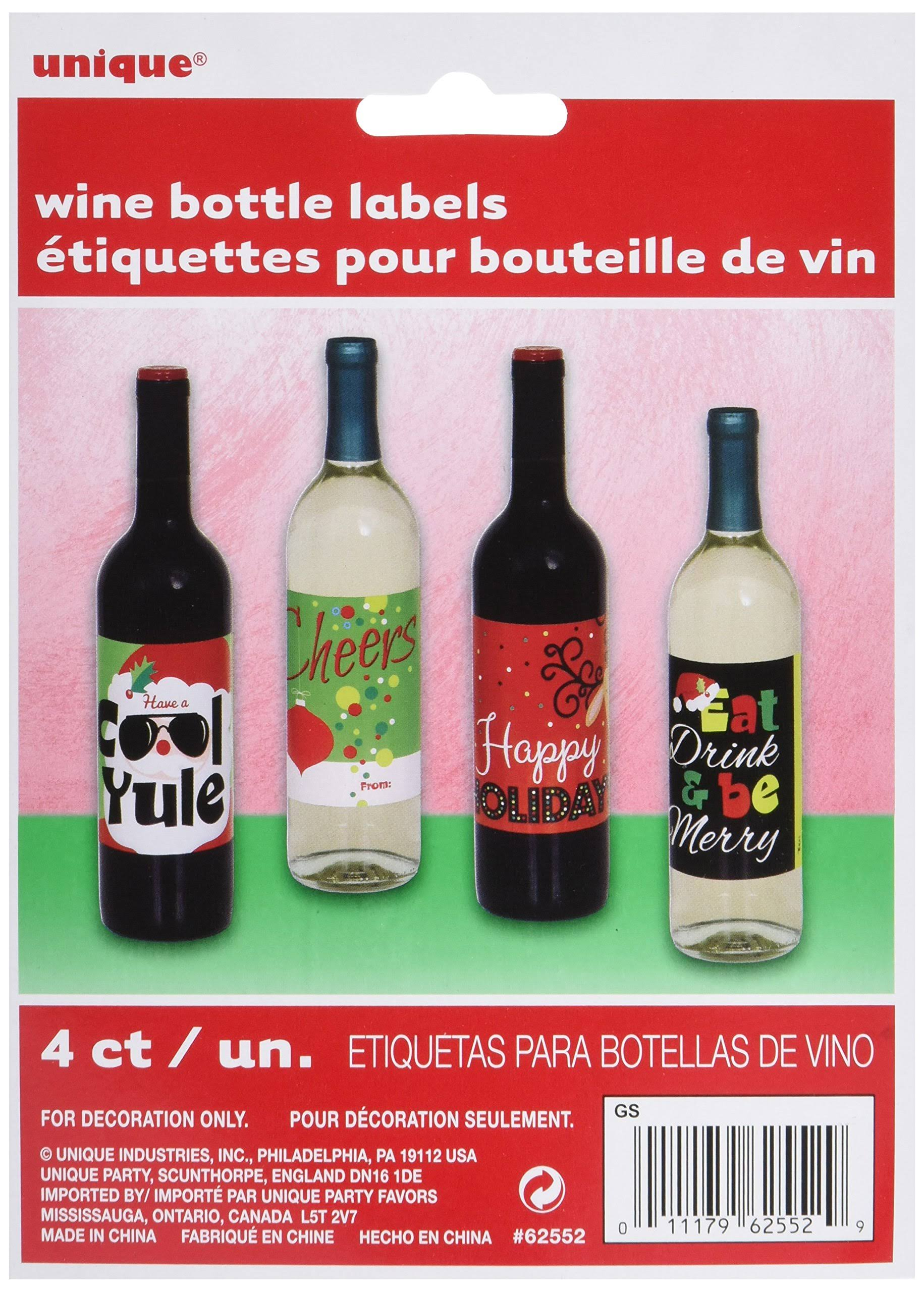 Unique Christmas Wine Bottle Labels 4
