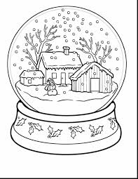 Fabulous Winter Scene Coloring Pages With Page And For Adults Printable