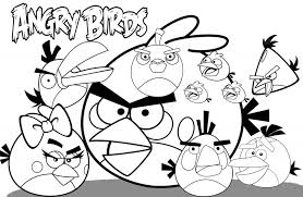 Luxury Angry Birds Printable Coloring Pages 76 For Your Books With