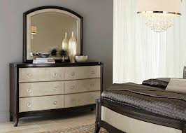 6 drawer dresser mirror with rubberwood solids cathedral