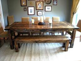 Diy Dining Table Bench Large Size Of Farm And Plans Pretty With