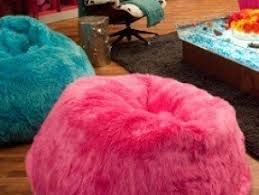 Pink Fluffy Bean Bag