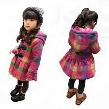 little girls jackets plaid warm cotton padded coat children