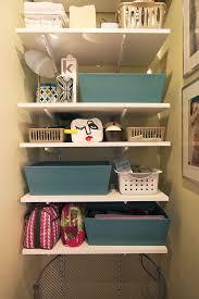 Our Organized Bathroom Storage Area