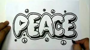 Drawing Bubble Letters How To Draw Peace In Graffiti Letters Write