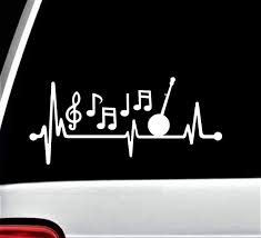 100 Bluegrass Truck And Trailer Amazoncom Banjo Music Notes Heartbeat Lifeline Decal