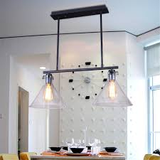 Amazon Perfectshow Loft Minimalist RH 2 Lights Glass Vintage Rustic Country Style Pendant Island Rectangle Steampunk Office And Pool Table Room