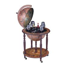 Globe Liquor Cabinet Antique by Amazon Com Nex Ht Kf304g Ms Globe Wine Bar Wood Kitchen U0026 Dining