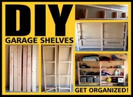 diy build high garage storage shelves