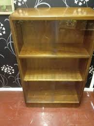 wooden bookcases with glass doors foter