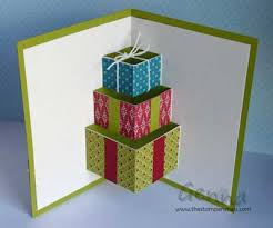 Christmas Present Pop Up Card Template And Star Box Ideas