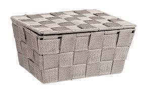 aufbewahrungskorb schrank box bad korb deckel adria taupe