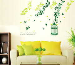 Wall Art Designs Ideas Birds And Trees Stickers Creative