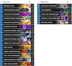 priest deck august 2017 hearthstone cn vs eu 2017 top 8 decks results and analysis