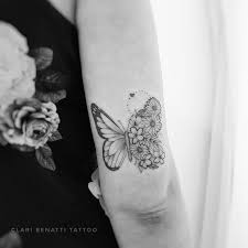 7 Floral Butterfly Tattoo On Arm