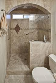 Guest Bathroom Decorating Ideas Pinterest by Best 25 Half Wall Shower Ideas On Pinterest Bathroom Showers