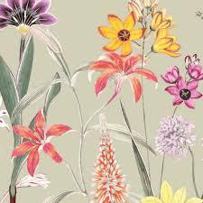 wand bordüre botanical garden mehrfarbig grün beige selbstklebend