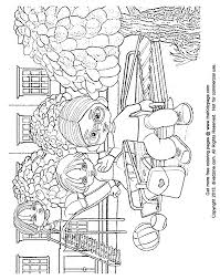 Playground Clipart Coloring Page 14