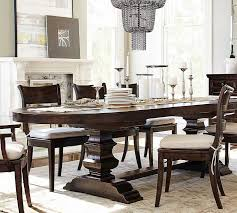 Best Pottery Barn Dining Bench Of Banks Oval Table Contemporary Set For 8