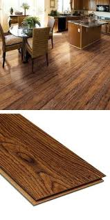 Laminate Flooring With Attached Underlayment by This Hand Scraped Dark Hickory Laminate Flooring Has An Embossed