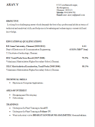 10 Final Year Engineering Student Resume Format