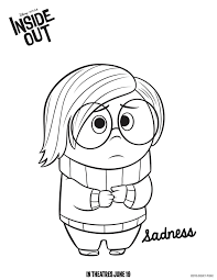 Inside Out Sadness Coloring Pages