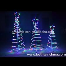 Led Outdoor Spiral Rope Light Christmas Tree For Street Decoration And New Year With Ce Rohs Sgs