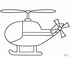 Click The Simple Helicopter Coloring Pages To View Printable
