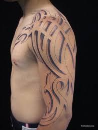 Negative Tribal Tattoo Designs Simple On Left