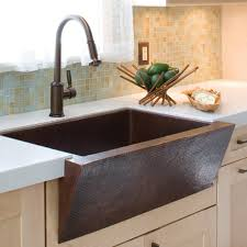 Rustic Kitchen Design With Farmhouse Dark Brown Copper Sink Style 18