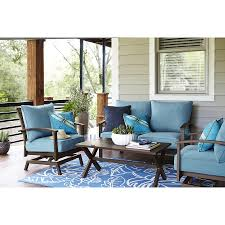 Design Alluring Winsome Blue Cushion Seat And Attractive Patio